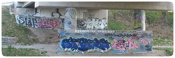 Trackside underpass in Hamilton, Canada
