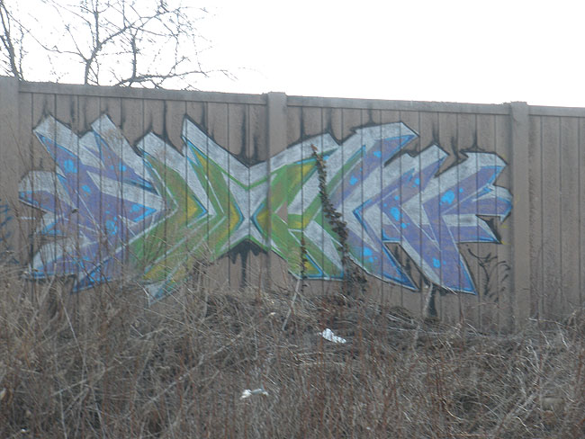 Flown graffiti photo